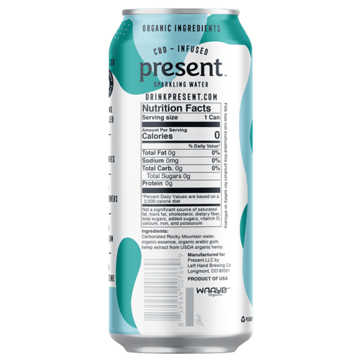 Present Natural CBD Infused Sparkling Water