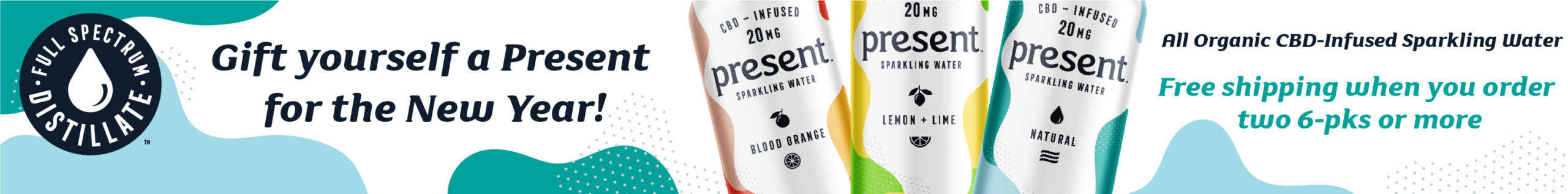 Present CBD Water buy 2 promotion